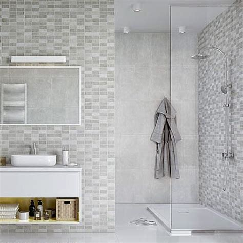 Tile Panels For Bathroom by Tile Effect Bathroom Wall Panels No Grout No Mould