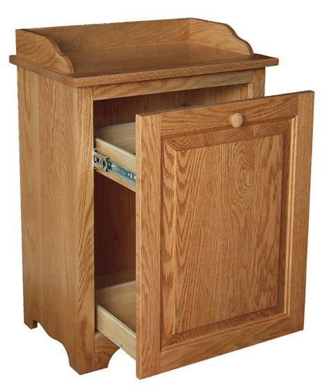 hardwood slideout waste bin  dutchcrafters amish furniture
