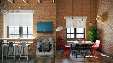 decoracion industrial en el salon la cocina  el comedor
