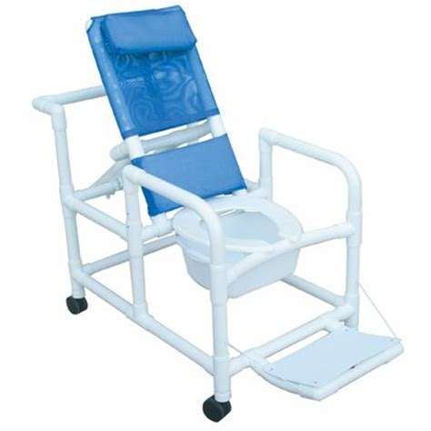 mjm international echo reclining shower chair with