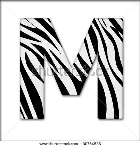 Animal Print Wallpaper B Q - zebra print letter m images