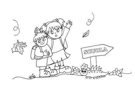 disegno bambina facile disegno di bambini che vanno a scuola