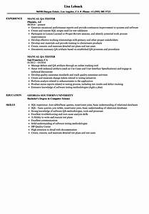Manual Qa Tester Resume Samples