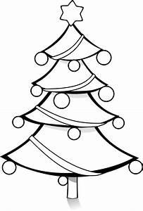 Christmas tree black and white black and white xmas tree ...