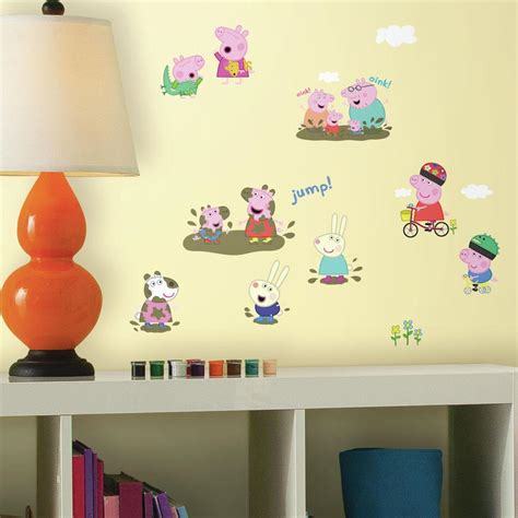 Peppa Pig Bedroom Makeover Kit by Roommates 5 In X 11 5 In Laundry Quote Peel And Stick