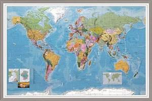 Pinnwand Weltkarte Kork : weltkarte m rahmen pinnwand pinwand worldmap tafel 60 x 90 cm kork korkboard ~ Markanthonyermac.com Haus und Dekorationen
