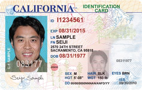 New California Drivers License Idscannercom