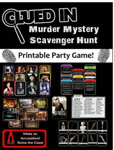 Printable Halloween Scavenger Hunt Clues by Best 25 Mystery Games Ideas On Pinterest Mystery Dinner