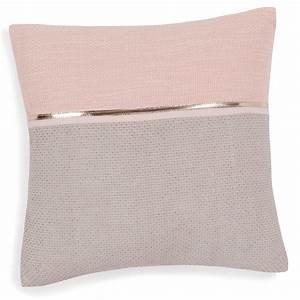 Maison Du Monde Coussin : housse de coussin en coton rose gris 40 x 40 cm alanna maisons du monde ~ Teatrodelosmanantiales.com Idées de Décoration