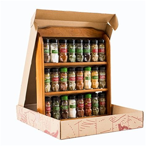 24 Spice Rack by Mccormick Gourmet Wood Spice Rack 24 Assorted Herbs