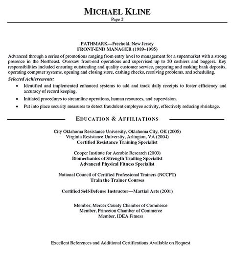 Personal Trainer Sle Resume by Personal Trainer Resume Should Explain An Expertise Area