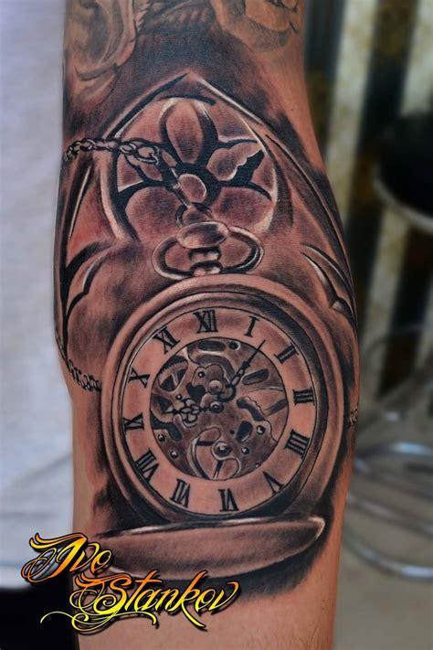 clock gear tattoos ideas