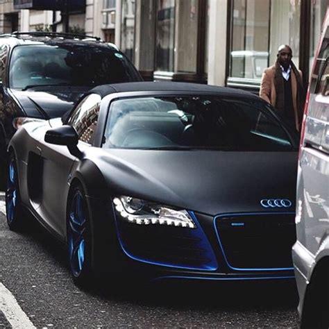 schwarz matt lack audi r8 matt schwarz mit blau