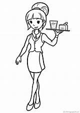 Colorare Cameriere Kellner Waiters Kellnerinnen Coloring Camareras Camareros Bambini Waitresses Colorear Disegni Immagini Dibujos Memory Ocupaciones Camerieri Varityskuvia Drucken Imprimir sketch template