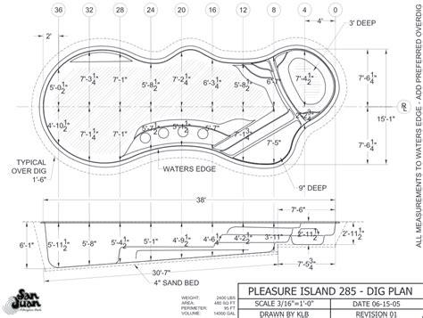 pleasure island dig plan artistic pools