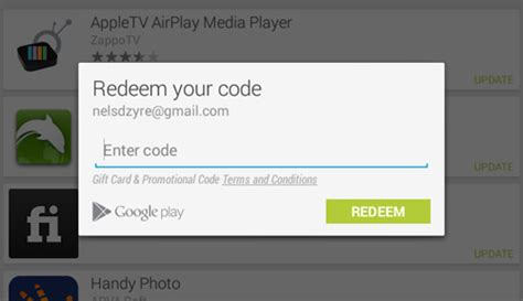 Play store coupon redeem free
