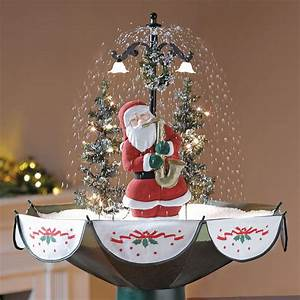 Tabletop Snowing Christmas Tree - The Green Head