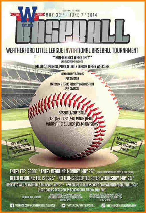 baseball flyer authorization letter