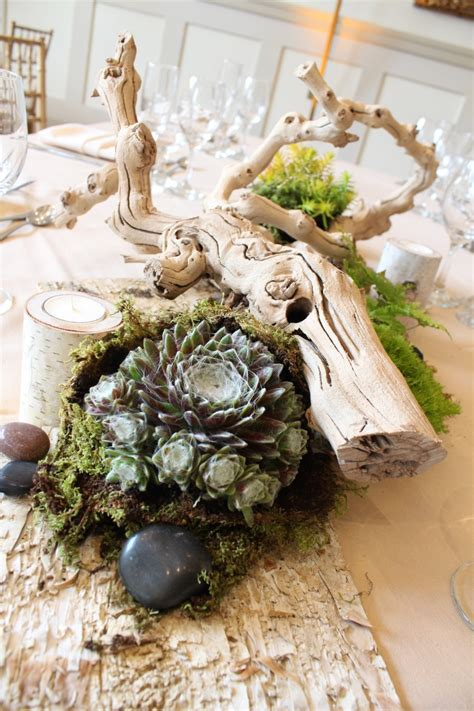 succulent wedding decor   stone house  stirling