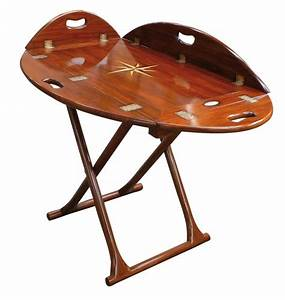 Large Foldable Coffee Table Butlers Tray Three Heights