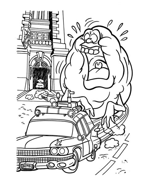 ghostbusters coloring pages  kids vincent pinterest