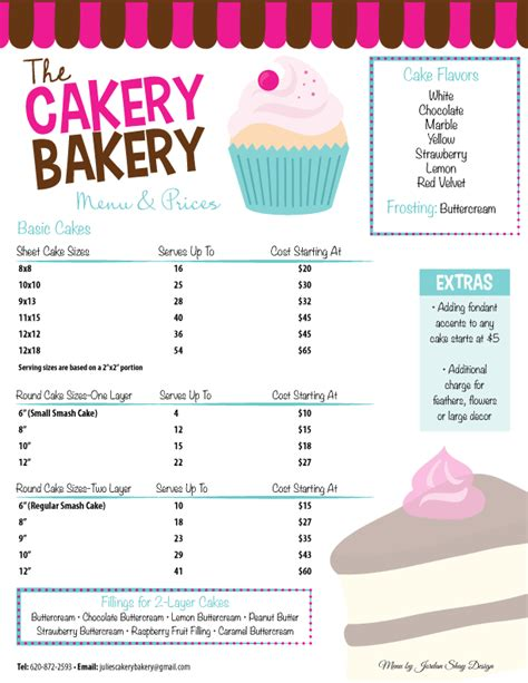 bakery menu google search annette