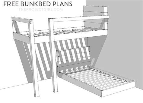 bunkbed plans   design  build custom bunk