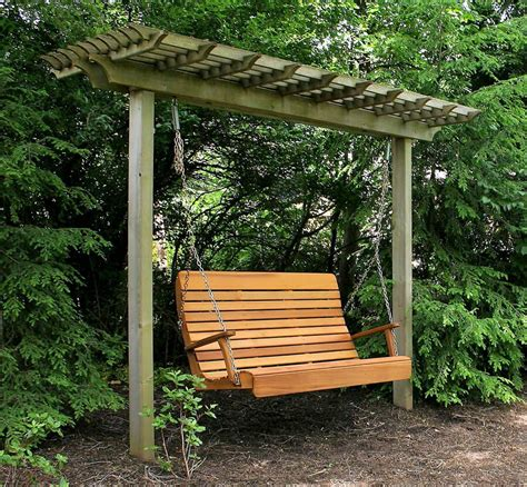 you thought of adding swing to your pergola