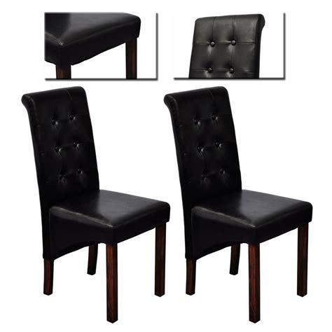 chaises cuir la boutique en ligne chaise lot de 2 en simili