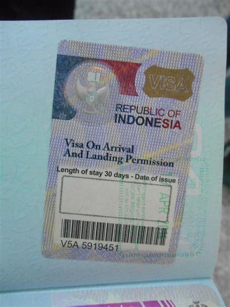 indonesian visa  arrival  denpasar