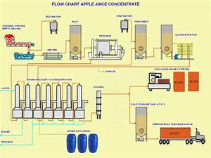 Apple Juice Concentrate Flow Chart