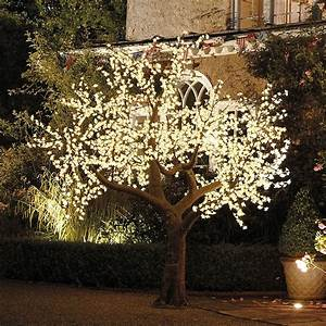 illuminated decorative led tree by enchanted trees With outdoor net lighting for trees