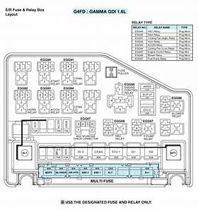 Hyundai Accent  Relay Box  Engine Compartment   Components And Components Location