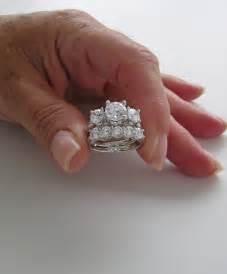 engagement and wedding ring sets spectacular three engagement ring wedding set