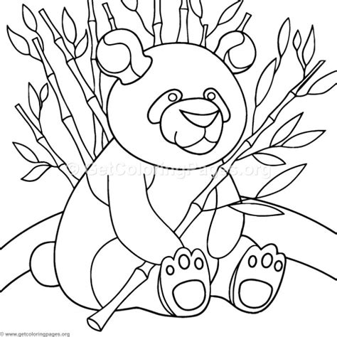 sitting panda coloring pages getcoloringpagesorg