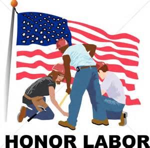 American Flag Labor Day Clip Art