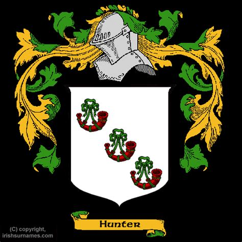 Hunter family crest and meaning of the coat of arms for the surname hunter