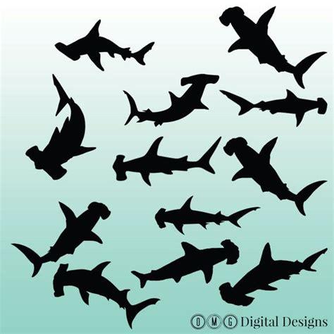 hammerhead shark silhouette digital