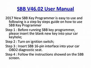 Buyer Guide On 2017 New Sbb Key Programmer V46 02