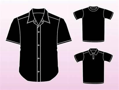 Vector Shirt Vectors Sleeve Shirts Template Clothing