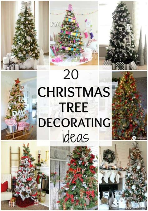 amazing christmas tree decorating ideas  blissful nest