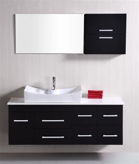 modern single sink bathroom vanity  espresso