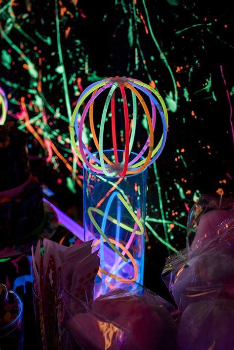karas party ideas neon glow birthday party karas party