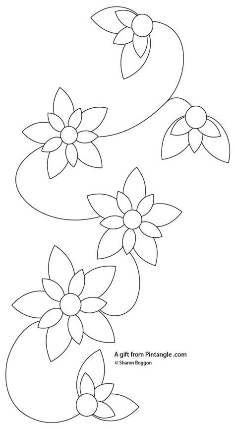 hand embroidery pattern   floral border pintangle