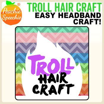 Trolls Hair Template by This Fun Craft Template Turns Your Students Into Trolls