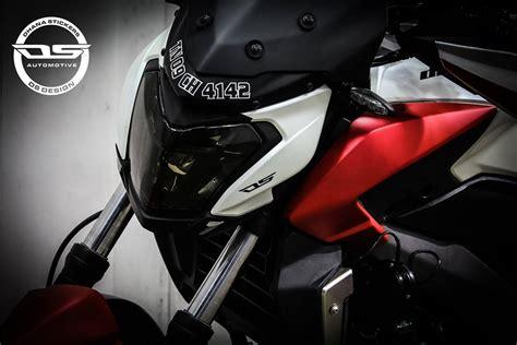 modified bajaj dominar  custom wrapped  ds design