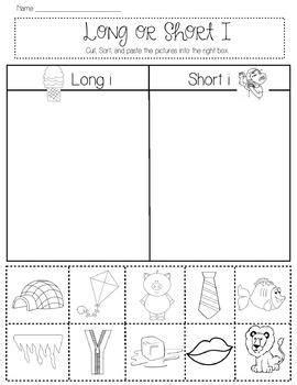 long  short vowel sort  images short vowels