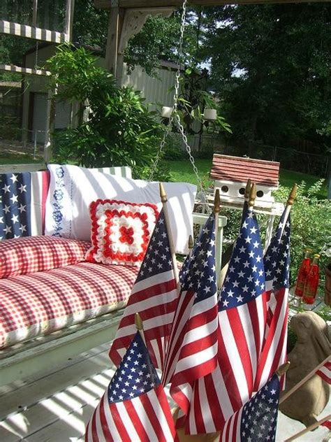 patriotic porches red white  blue craftforestcom