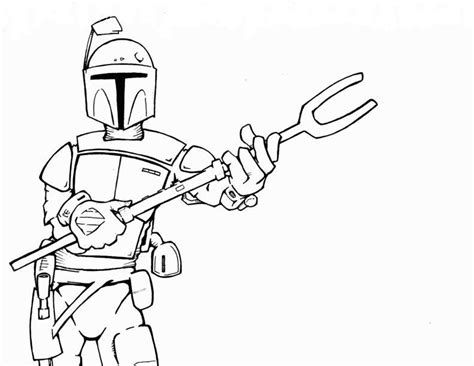 boba fett coloring pages    print