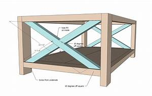rustic coffee table plans With rustic x coffee table plans
